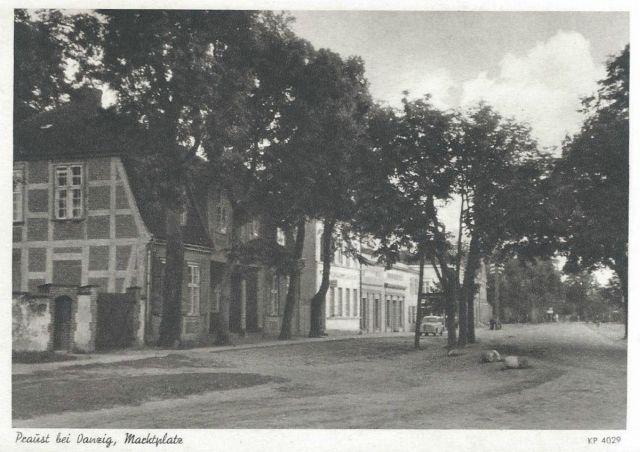 Dom przy Krótkiej 6 ( Wówczas Am Markt) przełom lat 30 - 40 - tych.