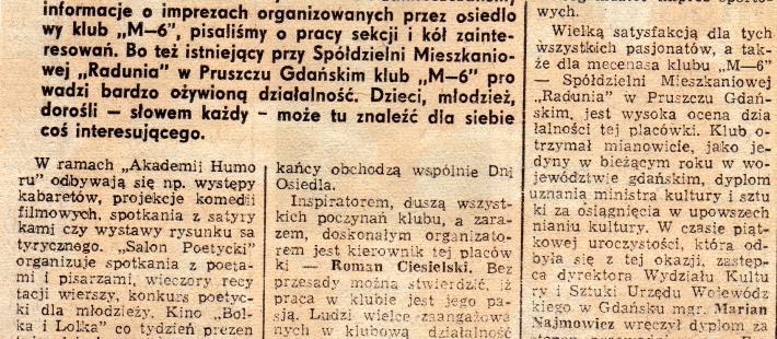 M6, Roman Ciesielski, Pruszcz Gdański, www.polnocna.tv, www.strefahistorii.pl