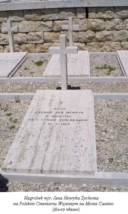 Jan Henryk Żychoń Monte Cassino Północna.tv, Strefahistorii.pl, Gondek, Jendrzejewski.